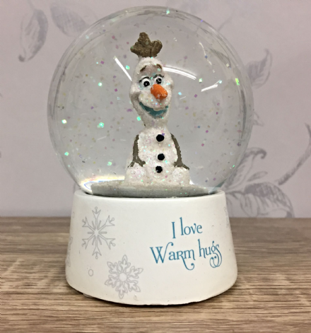 Disney Olaf Snowman Snow Globe ~ I love warm hugs